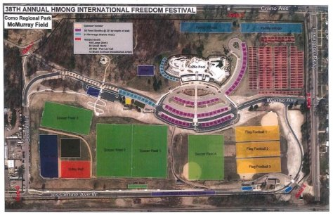 Hmong Freedom Festival Map